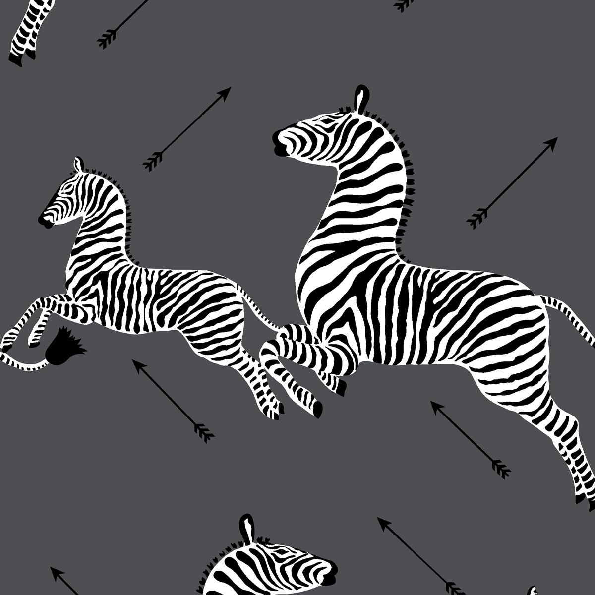 Peel and Stick Wallpaper Roll | Slate Zebra