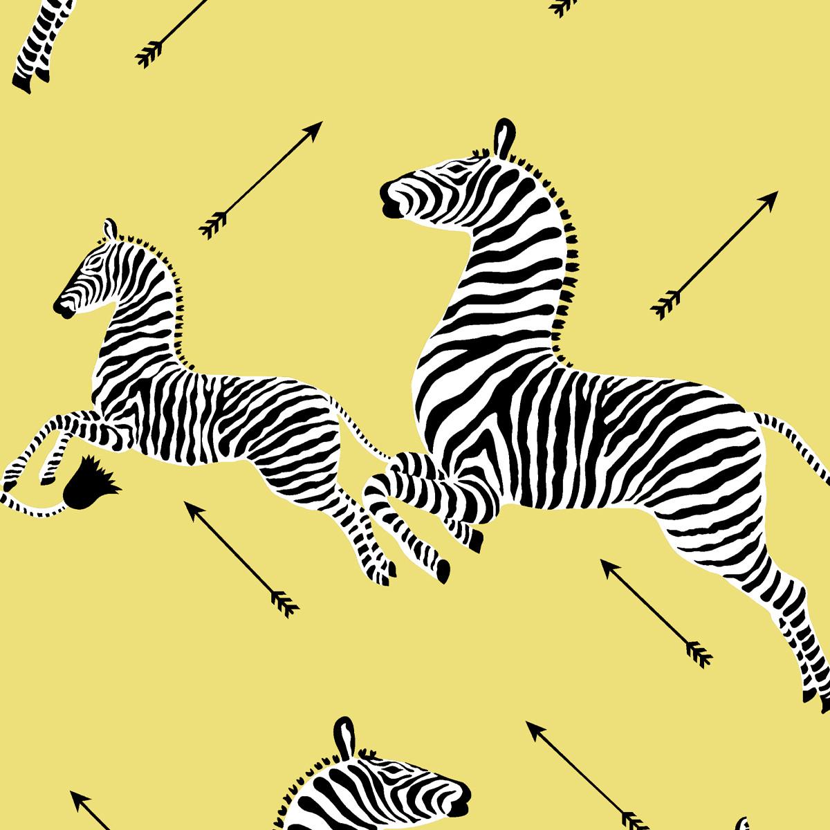 Peel and Stick Wallpaper Roll | Yellow Zebra