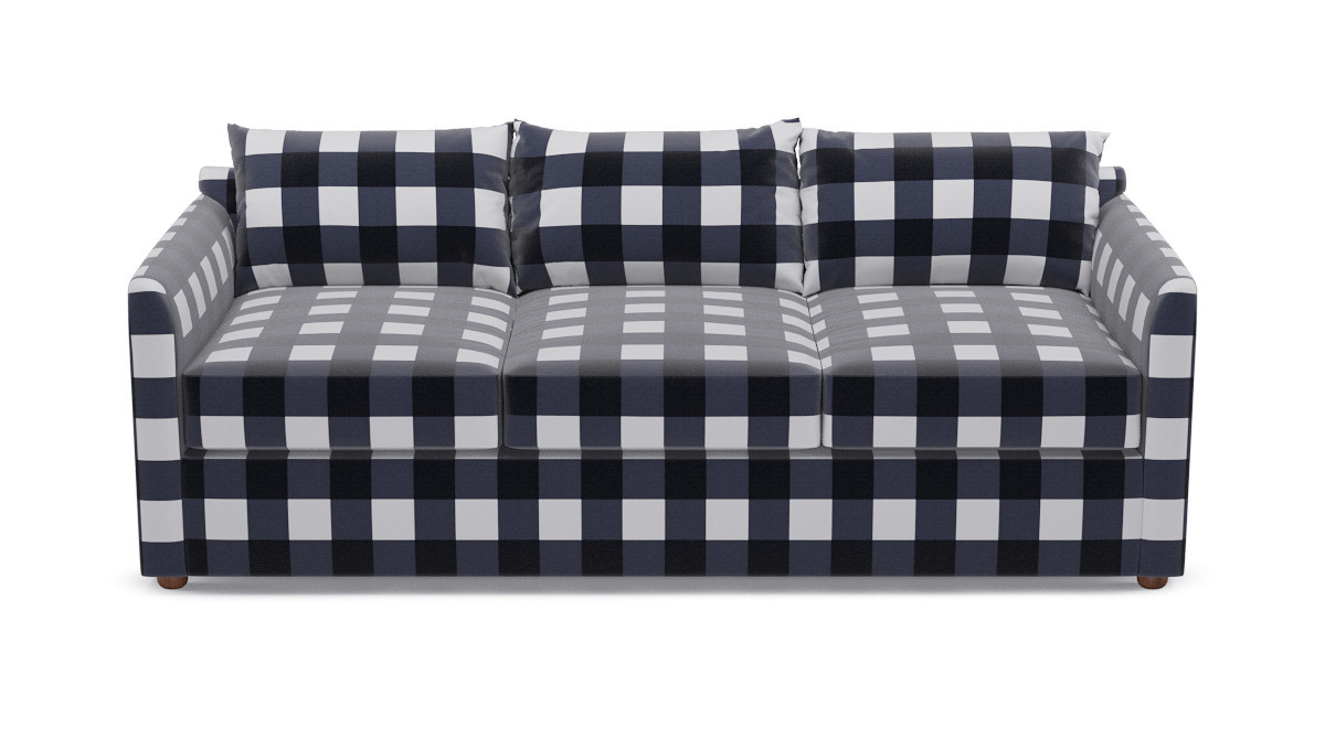 Tailored Sleeper Sofa Navy Check