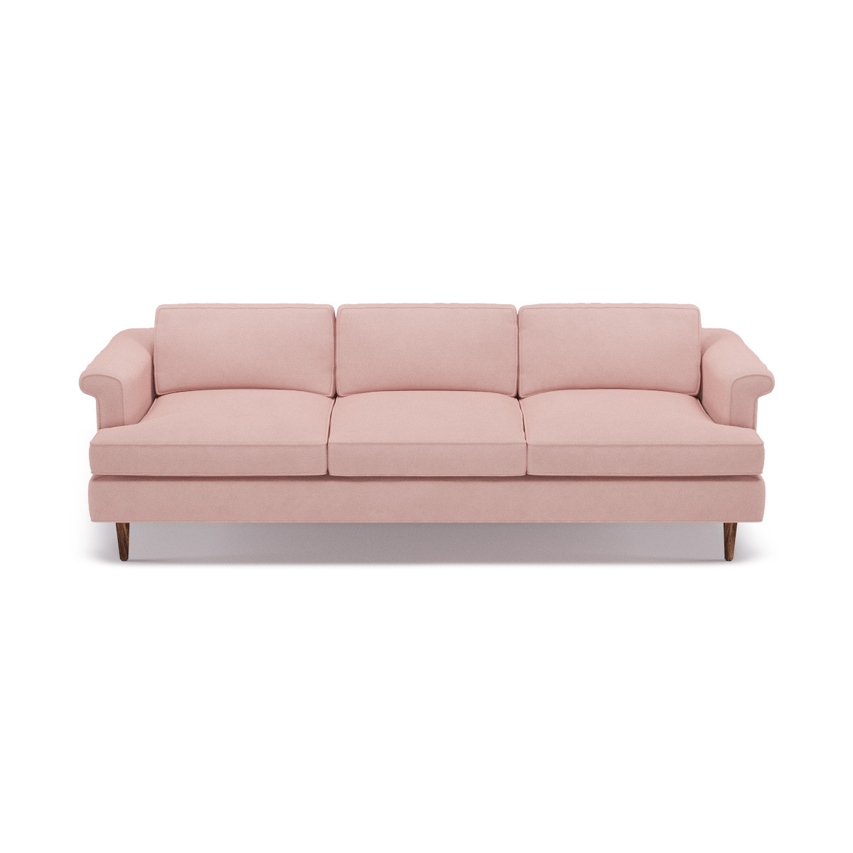 Mid-Century Sofa | Blush Velvet