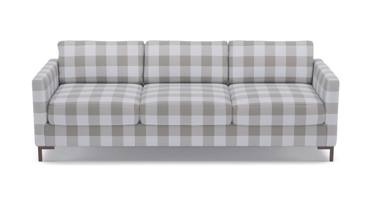 Astonishing Modern Sofa Ivory Check Short Links Chair Design For Home Short Linksinfo
