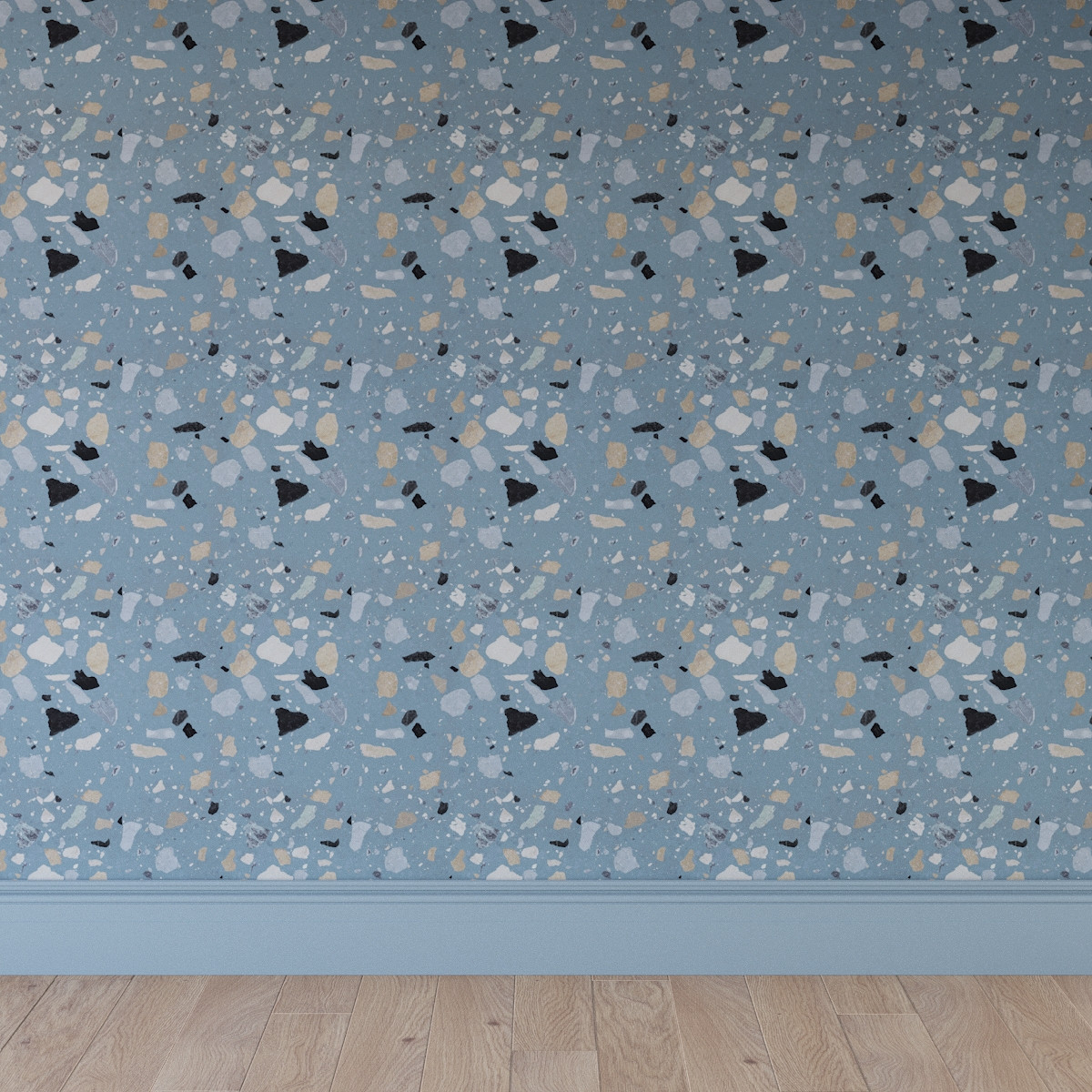 Peel And Stick Wallpaper Roll Dusty Blue Sperduti