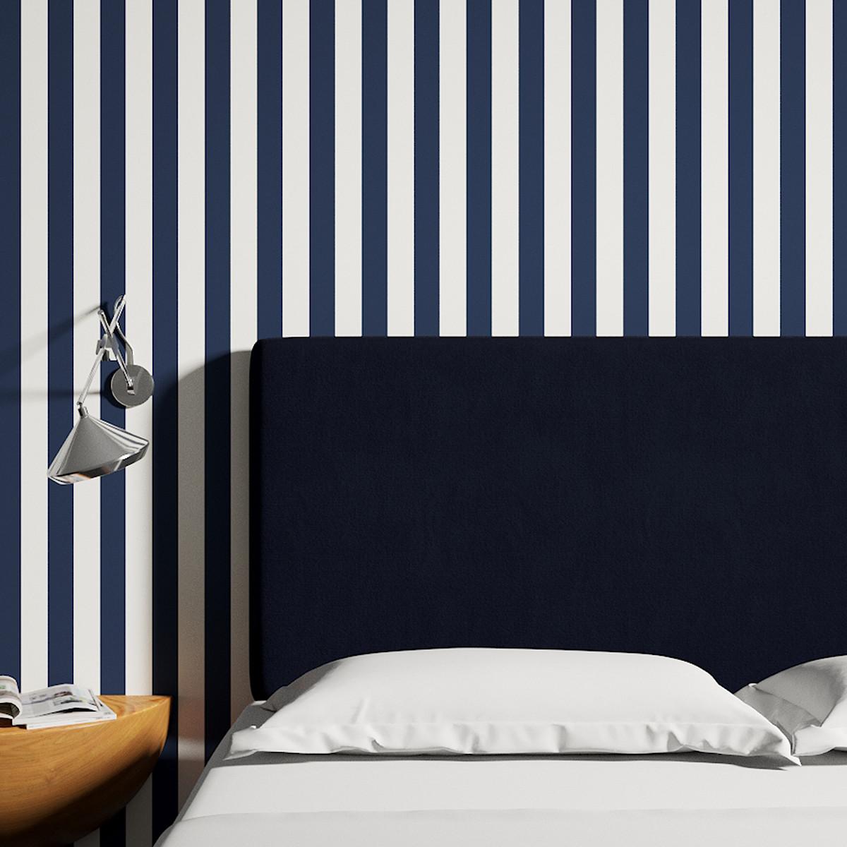 Peel And Stick Wallpaper Roll Navy Cabana Stripe
