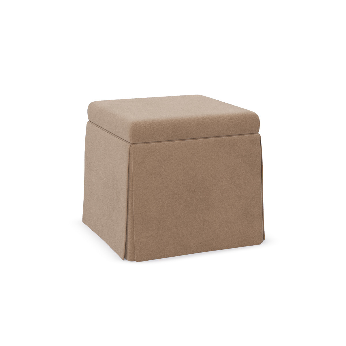 Super Skirted Storage Ottoman Sand Velvet Camellatalisay Diy Chair Ideas Camellatalisaycom