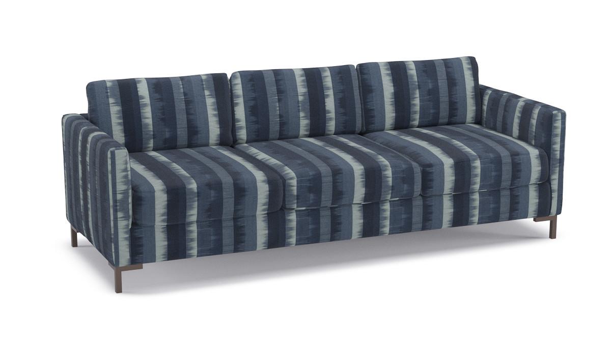 Awe Inspiring Modern Sofa Indigo Ikat Stripe Ibusinesslaw Wood Chair Design Ideas Ibusinesslaworg