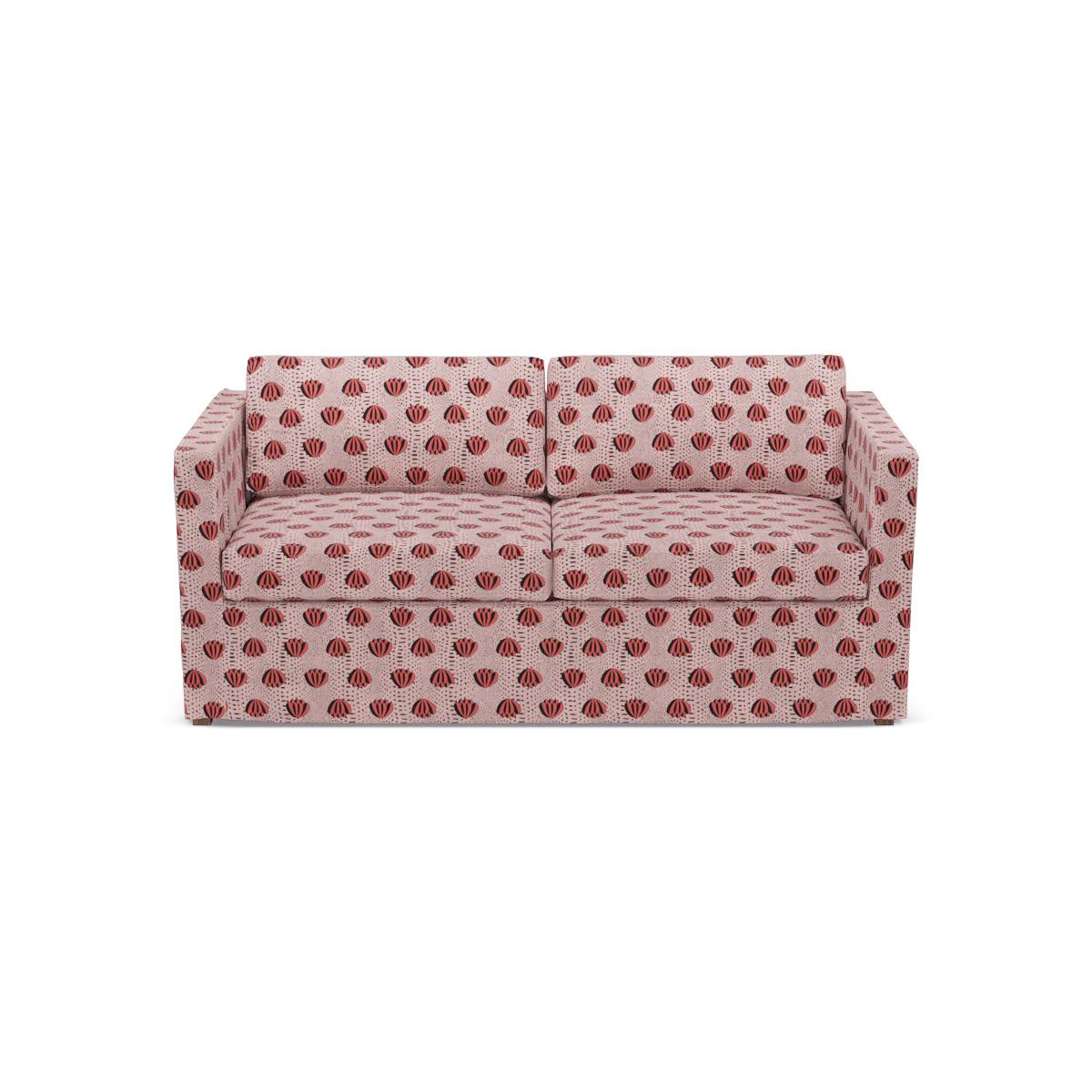 Slipcover Sofa   Red Lotus