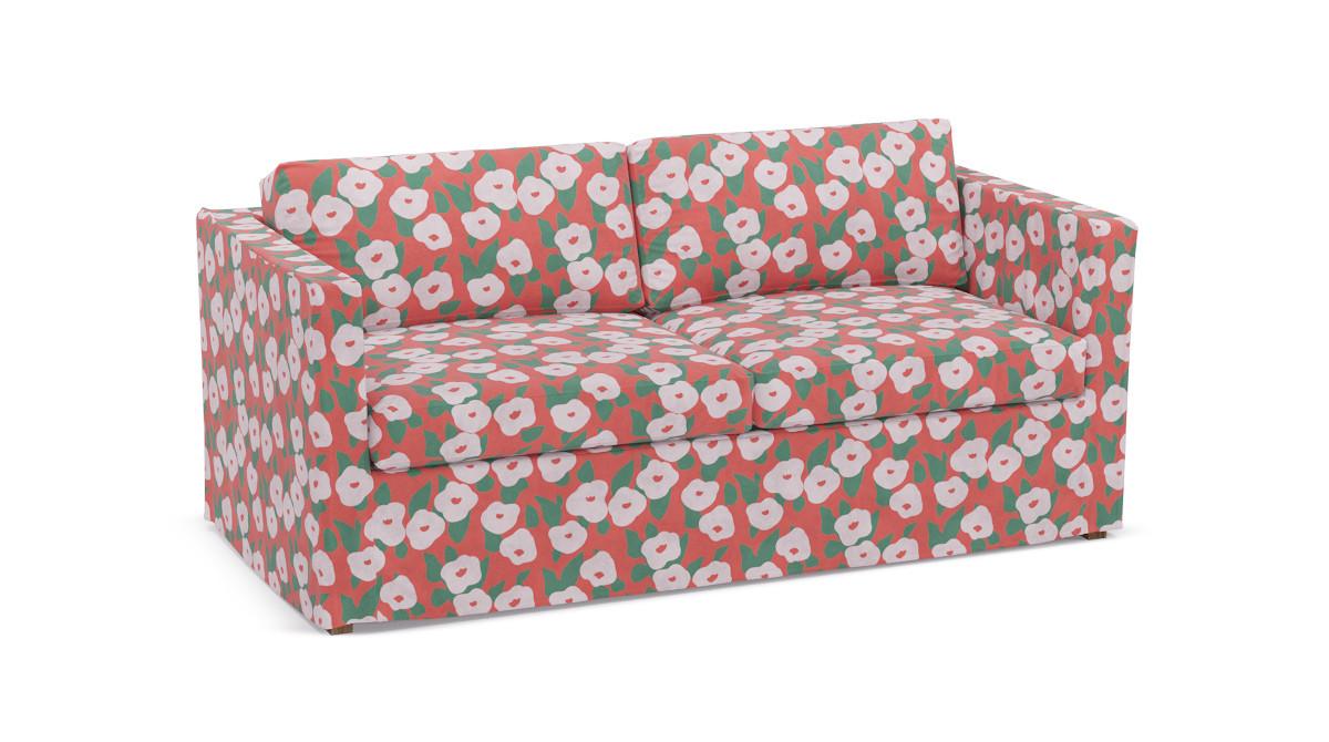 Slipcover Sofa | Red Belle Du Jour