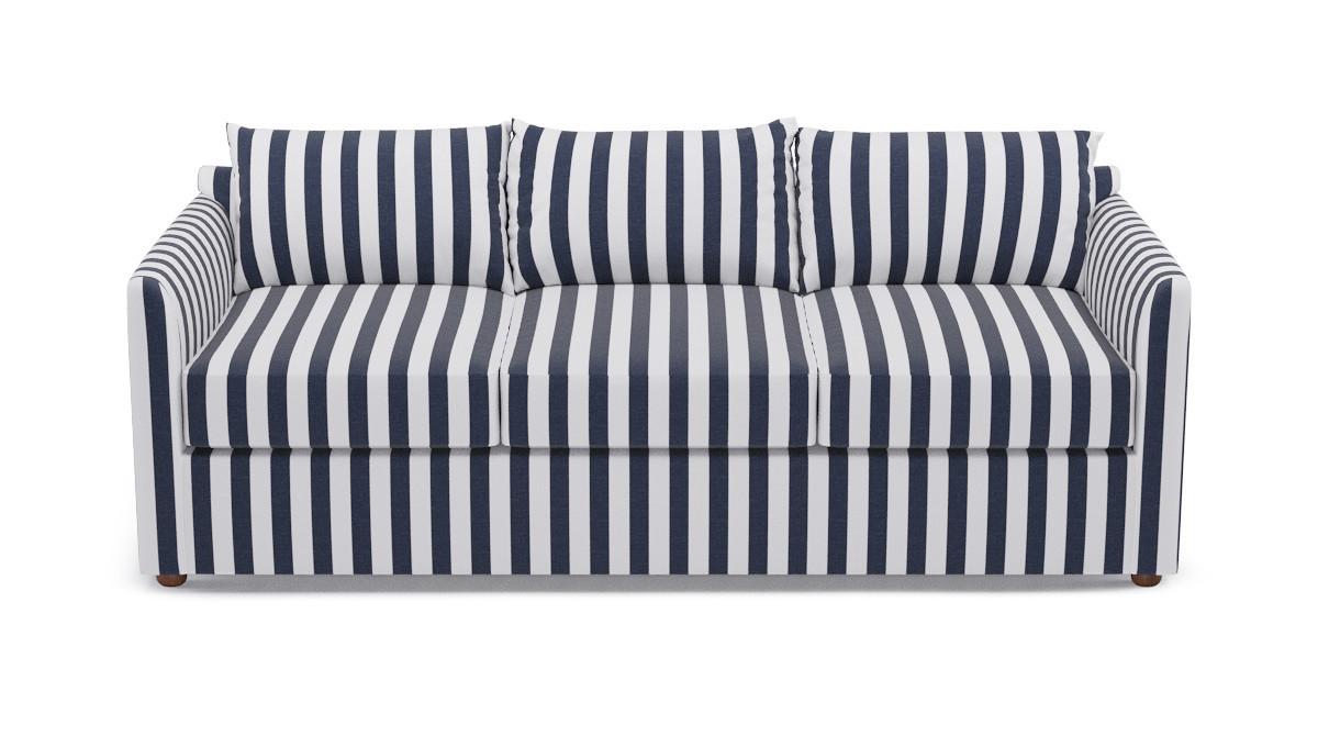 Tailored Sleeper Sofa Navy Cabana Stripe
